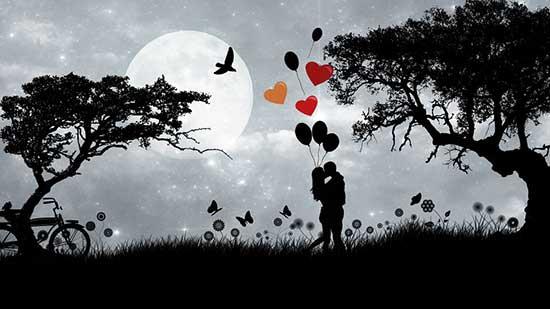 抱き合うカップル「愛」のイメージ画像